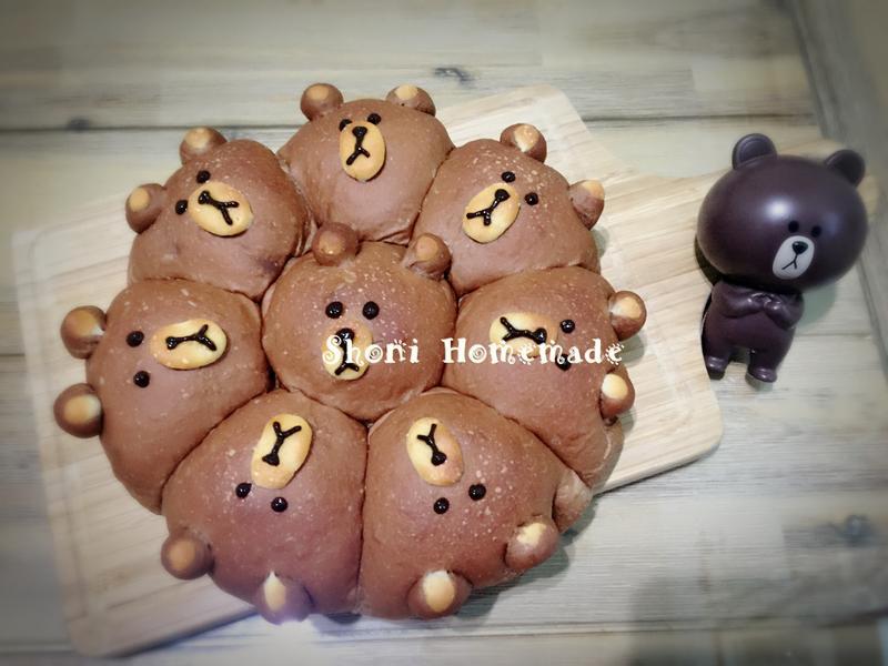 超可愛的熊大大餐包 [麵包機105T]