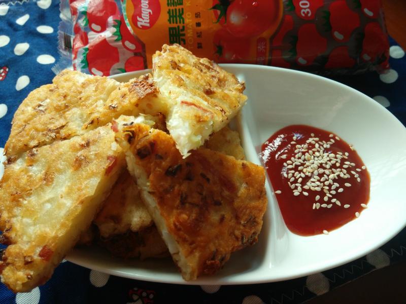 起司蔬菜煎餅-蕃茄醬懶人料理