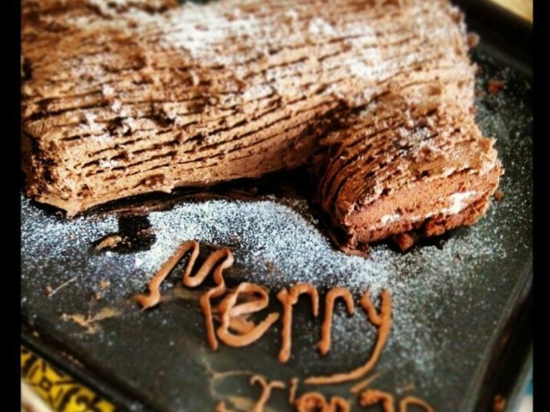 【聖誕料理】樹幹蛋糕