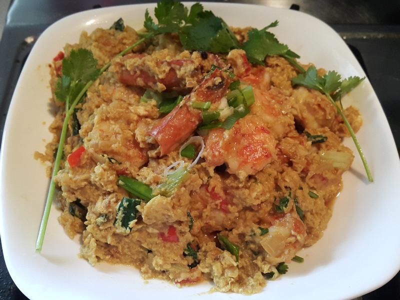 泰式黃金咖哩蝦(仁)