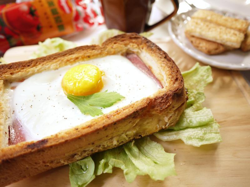 茄汁起司蛋吐司盒_蕃茄醬懶人料理