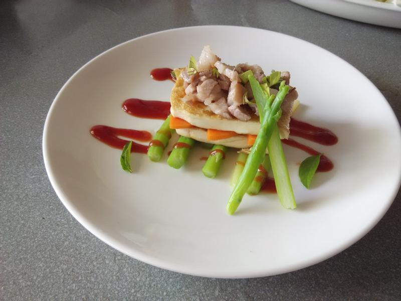精緻鮮蔬煎豆腐層
