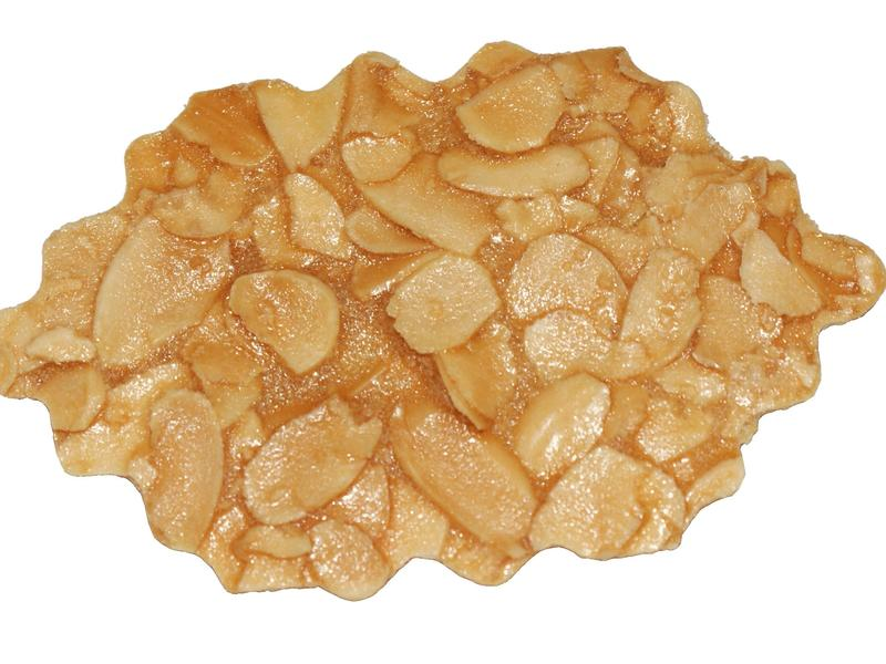 用剩餘蛋白做出的杏仁片