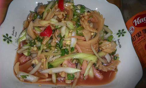 涼拌魷魚-蕃茄醬懶人料理