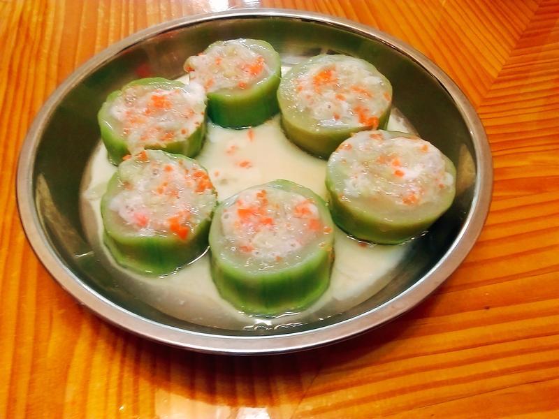 碧綠絲瓜盅蒸蛋[全聯料理王大賽]