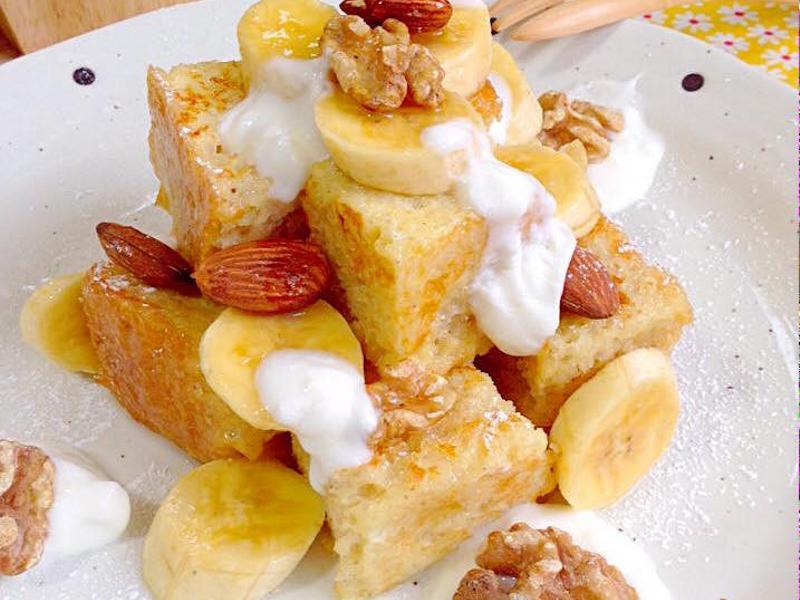 香蕉堅果法國吐司