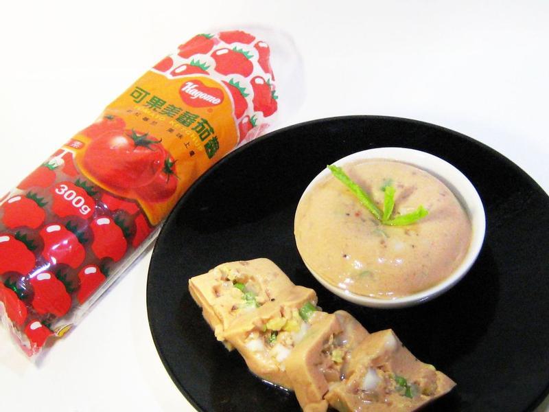 【蕃茄鮮蔬冷豆腐】_蕃茄醬懶人料理