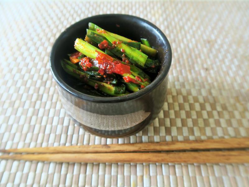 拉麵花月嵐的壺漬辣韭菜