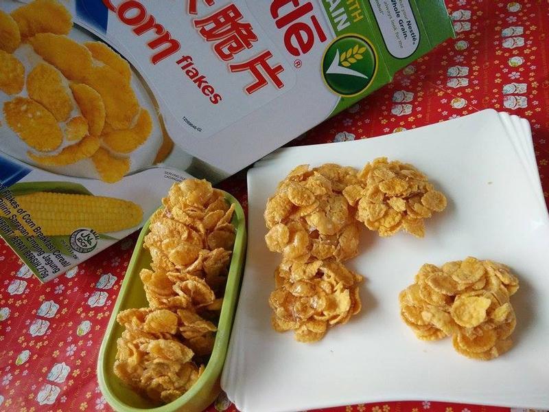 和孩子一起做~脆片餅乾『雀巢玉米脆片』