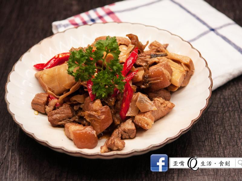 [鑄鐵鍋][春季蔬菜]福菜桂竹筍爌肉