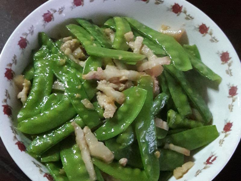 扁豆炒三層肉絲