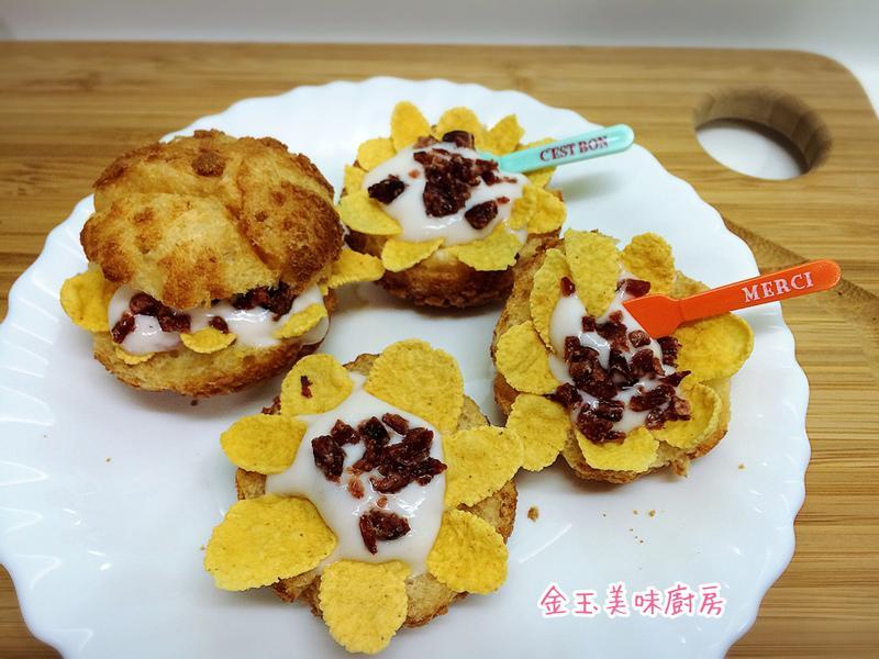 蔓越莓香脆泡芙『雀巢玉米脆片』