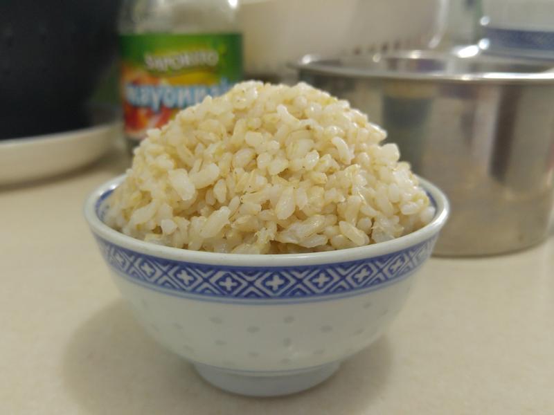 臺灣 米樂銀川 有機胚芽米 浸發蒸煮比例