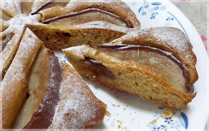 蜂蜜洋梨蛋糕♥攪一攪就好的點心