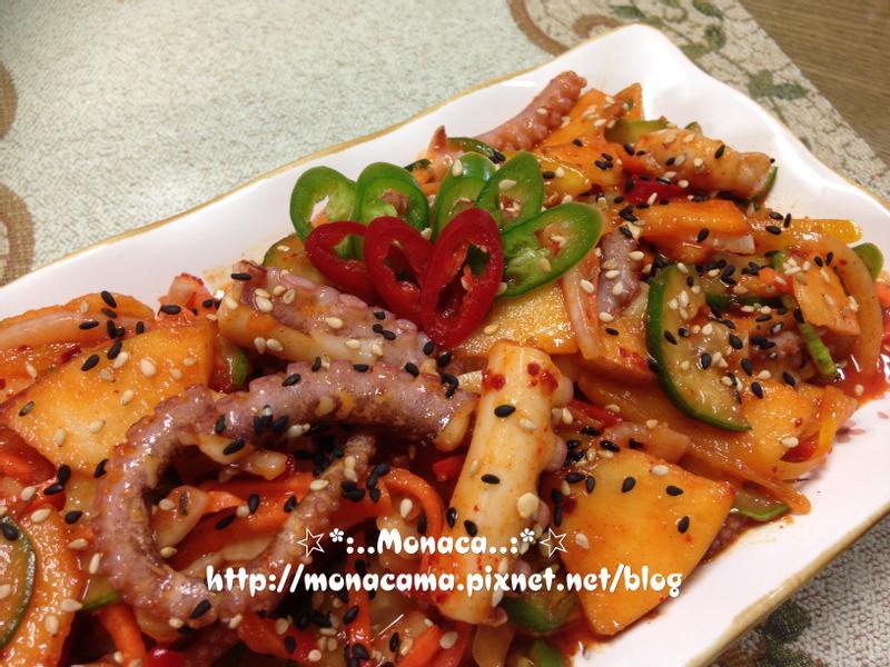 韓式涼拌章魚낙지무침