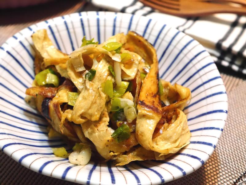 十分鐘常備菜-蔥蒜香炒豆皮