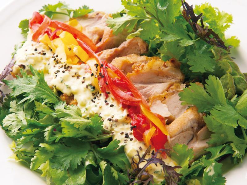 東販小食堂:南蠻雞腿沙拉 佐香菜