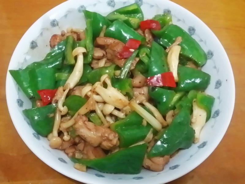 蔥爆青椒菇菇雞丁_好菇道美味家廚