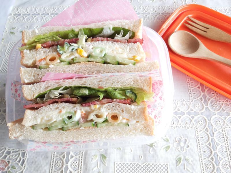 薯泥培根堆疊三明治【小七野餐趣】