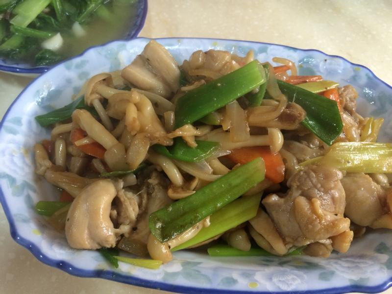 蔥燒菇菇雞