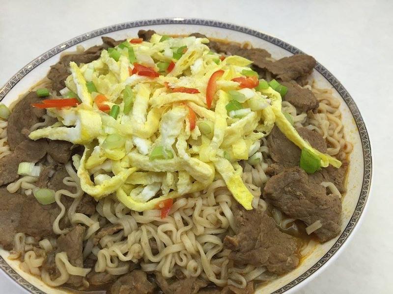 三色泰式酸辣香炒牛肉麵