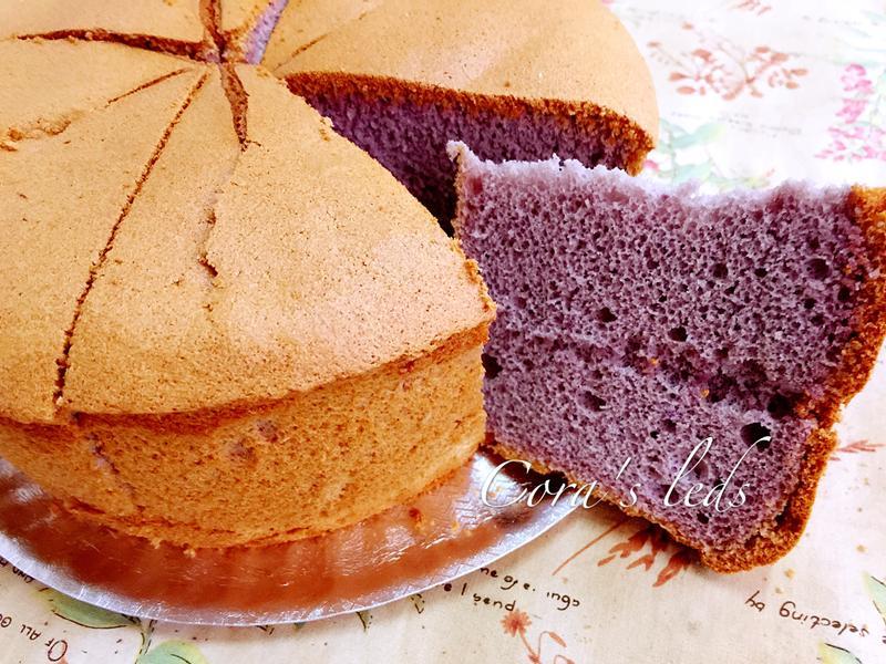 紫爵地瓜戚風蛋糕-比菲多版