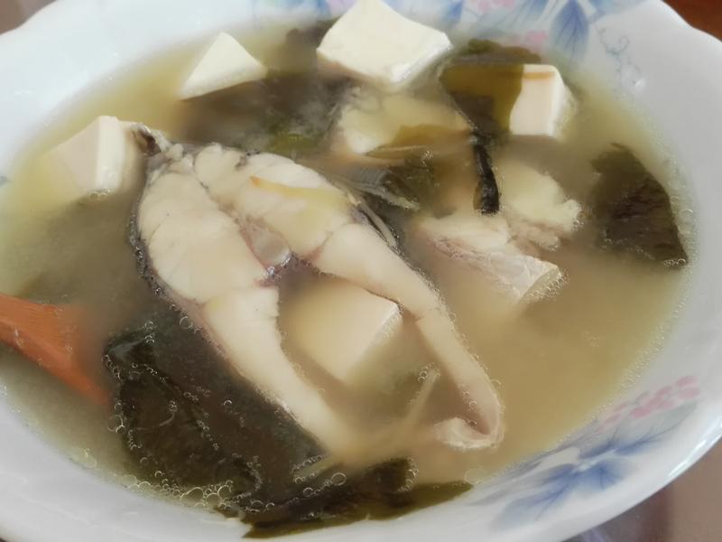 味噌鱸魚湯(電鍋版)