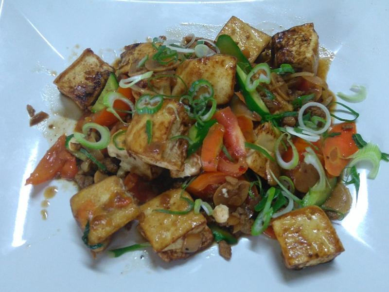 豆腐燒蔬菜
