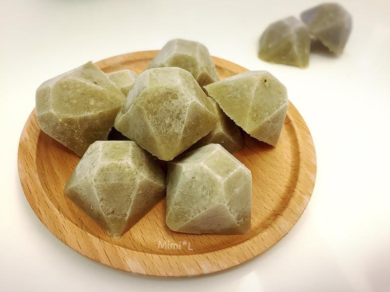 蜂蜜綠豆薏仁冰磚(加牛奶)