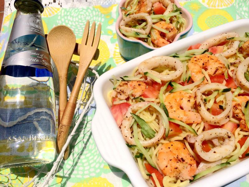 綜合海鮮冷麵~小七野餐趣