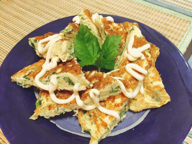 山芹菜煎蛋