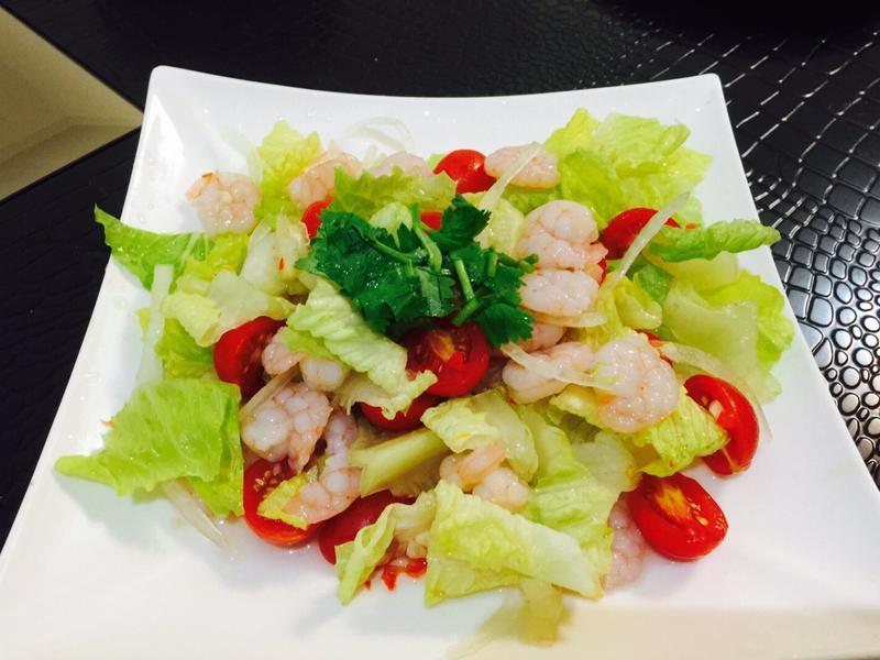 泰式涼拌蔬菜蝦仁