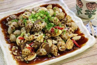 涼拌蒜香芥末醬油花螺