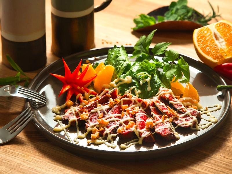 和風牛紐西蘭牛排生菜沙拉