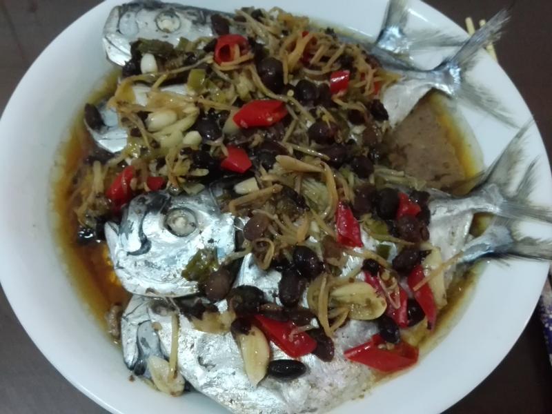 豆豉蒸皮刀魚