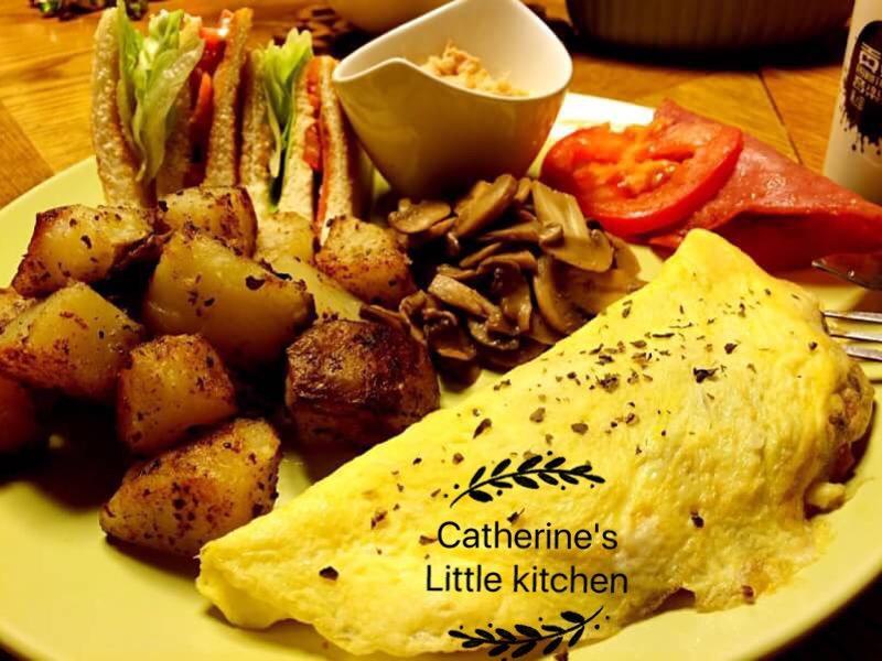 🇺🇸營養滿點早餐~歐姆蛋捲