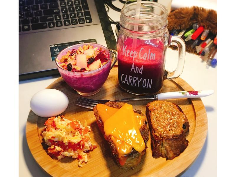 紅龍果主題健康單身早午餐