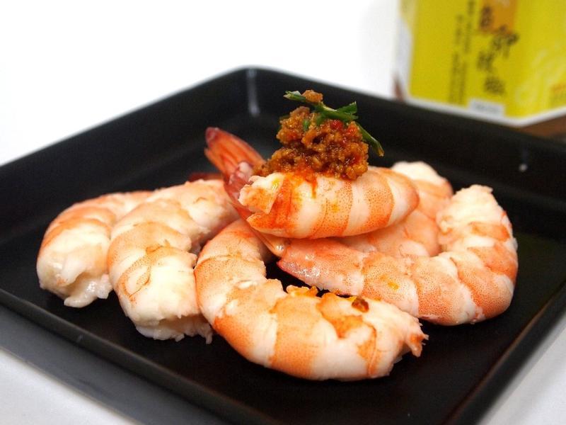 魚卵辣椒鮮白蝦