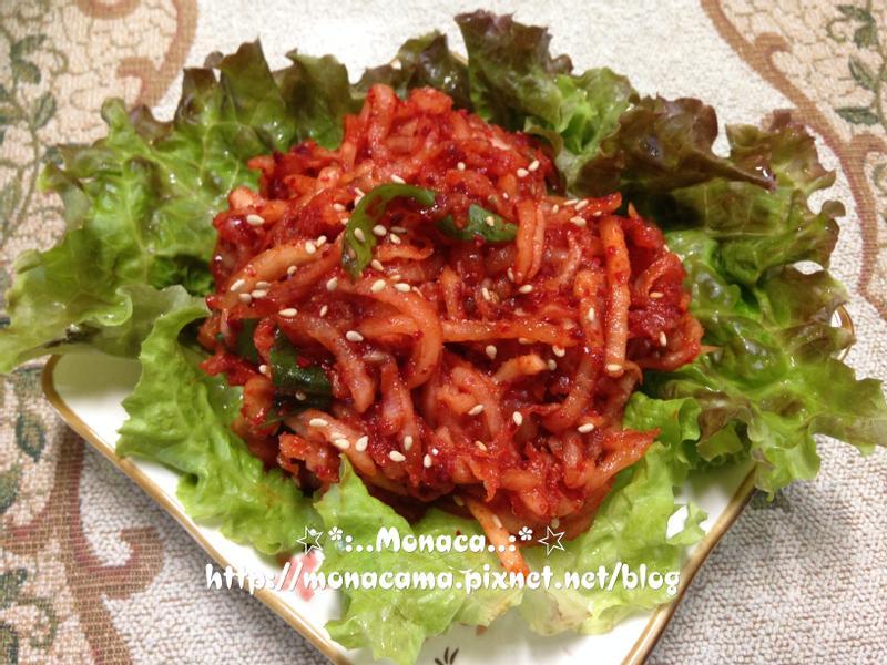 韓式涼拌蘿蔔絲무생채