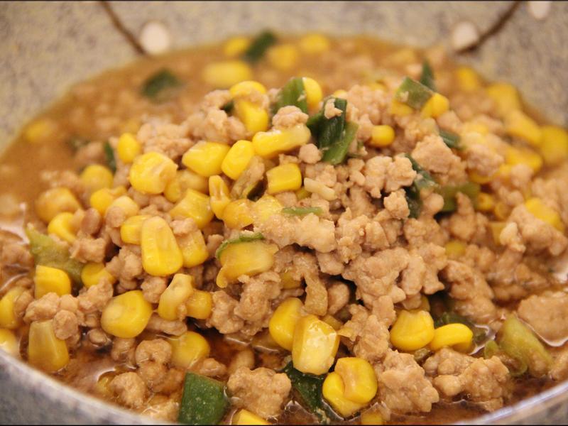 便當菜:玉米味噌肉