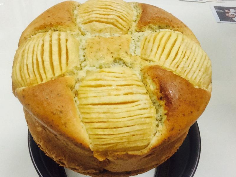 「簡單」減糖油-焦糖蘋果伯爵乳酪蛋糕❤️