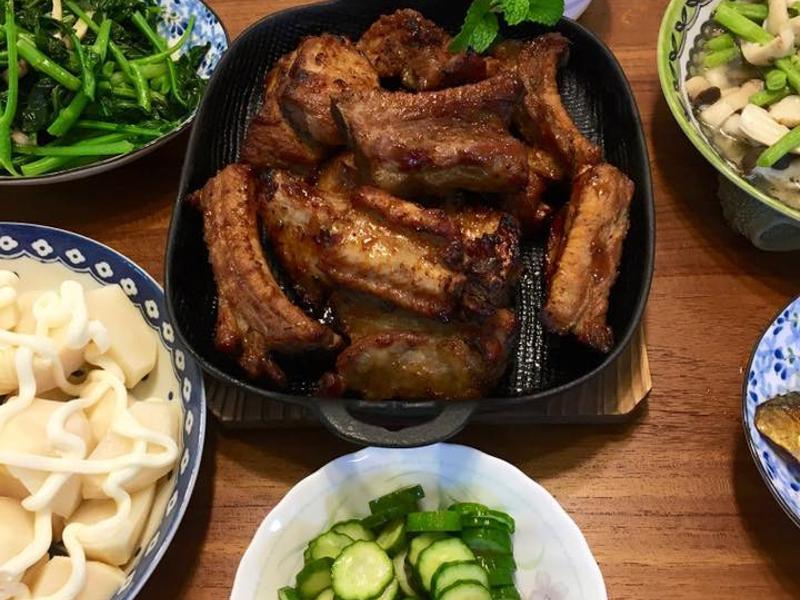 烤豬肋排(水波爐)