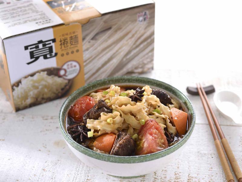 蕃茄燉牛肉麵【五木直條寬捲麵】