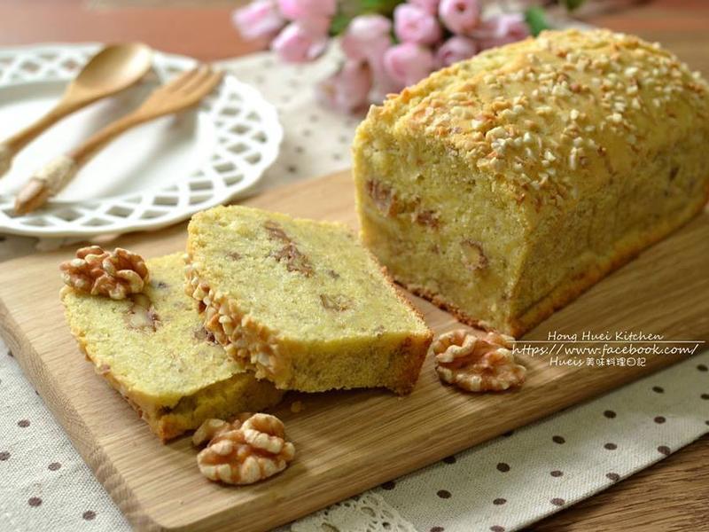 核桃香蕉磅蛋糕(無泡打粉)
