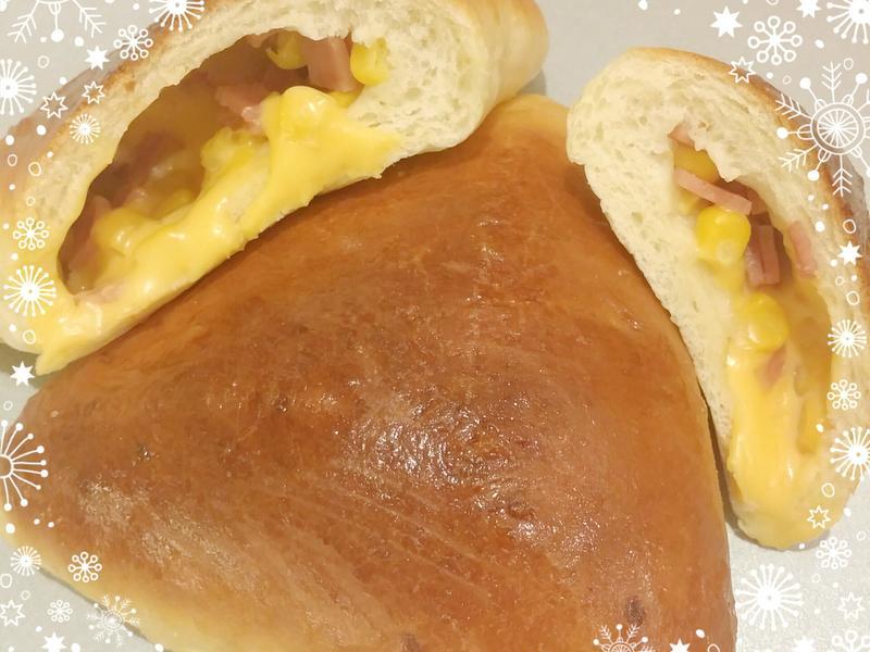 爆漿玉米火腿麵包