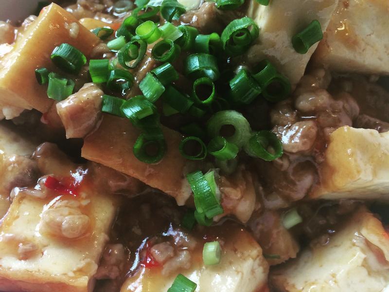 麻婆豆腐風~油豆腐拌絞肉