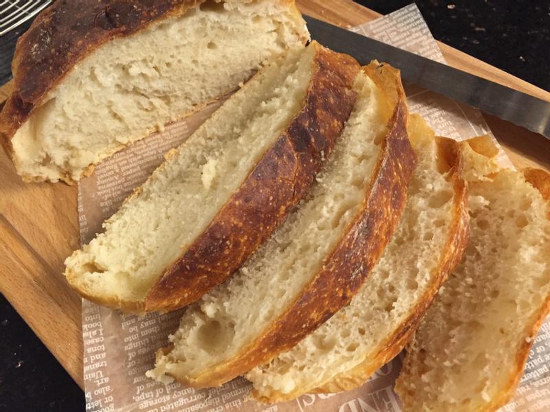 免揉歐式麵包 (無油無糖)
