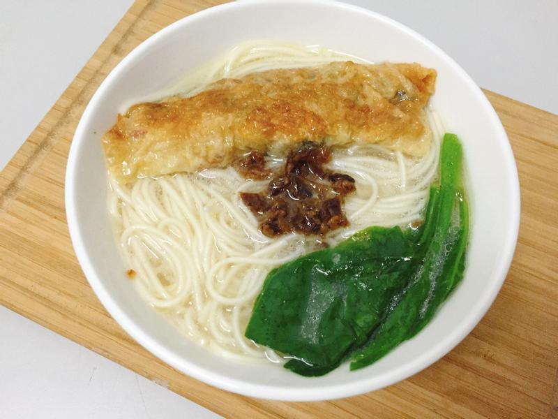 腐皮菜卷素麵-五木拉麵