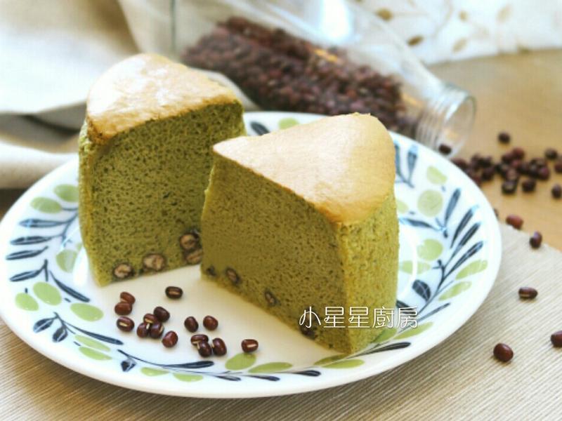 奶油抹茶紅豆棉花蛋糕