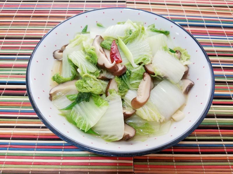 清炒香菇大白菜